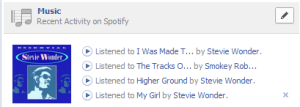 Facebook OpenGraph Timeline Music Items